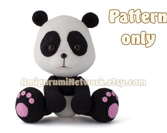 CROCHET PATTERN - Amigurumi Panda. PDF