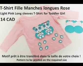 """T-Shirt girl or boy/Toddler Girl or Boy """"Les Pandas Bleus"""" - """"The Blue Pandas"""""""