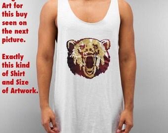 Size M - Gay Bear Bären Shirt Tank Top Pride 7 - Limited Art Edition
