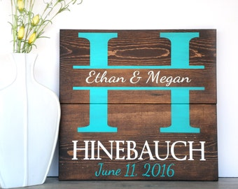 Personalized Wedding Gift - Unique Wedding Gift - Engagement Gift Idea - Wedding Shower Gift - Personalized Bridal Shower Gift - Last Name