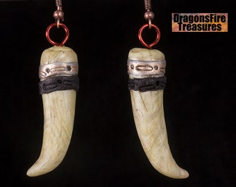 Faux bone, polymer clay earrings