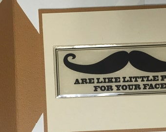 Mustache Greeting Cards-Set of 4