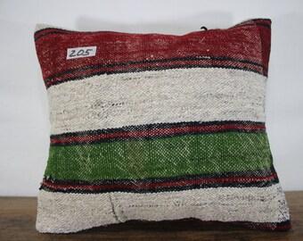 15x18 Turkish Kilim Cushion Cover,Pillow,Striped Kilim Pillow Case Sofa Pillow,Bohemian Pillow Decorative Pillow,Tribal Pillow SP4040-205