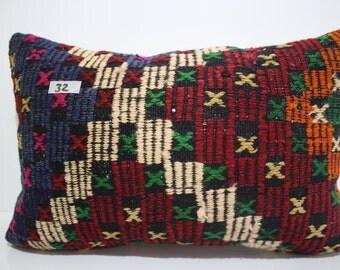 Kilim Cushion,Throw Pillow Floor Pillow 16x24 Kilim Pillow Cover Vintage Kilim,Turkish Kilim Pillow Decorative Pillow,Cushion SP4060-32