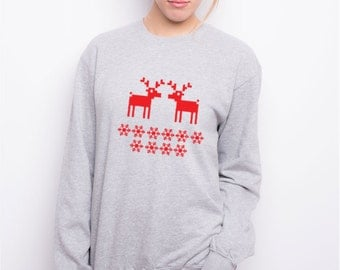 Sweatshirt for Women - reindeer