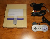 Super Nintendo Console (with Hookups & Controller)