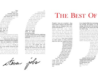 Steve Jobs Quotes, Steve Jobs Art, Typographic Art
