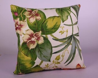 Outdoor cushion cover - Orchids (38cm x 38cm)