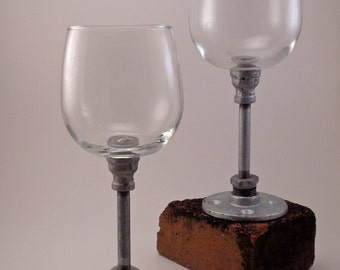 Industrial Wine Glasses - Set of 2