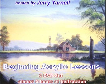 Jerry Yarnell BEGINNING ACRYLIC LESSONS art dvds Inspiration of Painting series - learn how to paint