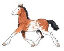 Horse Portrait Custom Horse Painting Digital Print Watercolor Horse Illustration Horse lover Gift Original Equine Portrait Personalized art