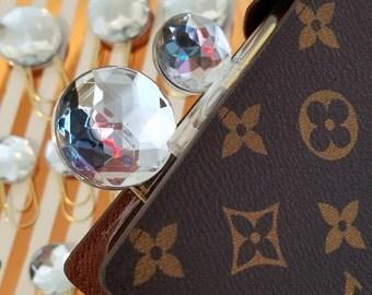 2-Sided Oversize Diamond Jewel Paperclips- Stunning!