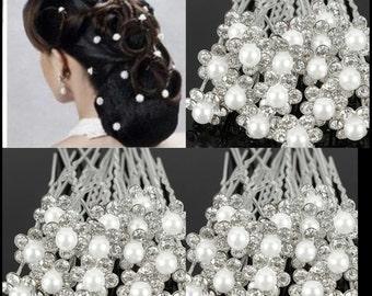 5pcs Bridal Hair Pins White Pearl Wedding Hairpins Wedding Hair Accessories Pearl Hair Pins Bridal Hair Pearl Hair Clips Women Accessories