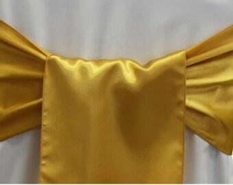 10pcs Gold Sashes Gold Chair Sashes