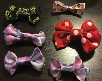 Hair bows with aligator clip