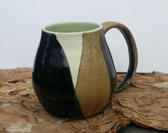 Large porcelain coffee mug