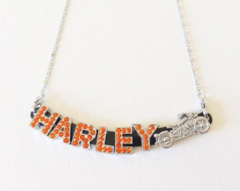 Brand New Bling Harley Davidson Necklace