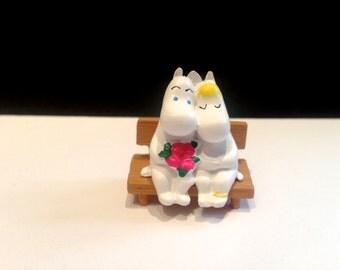 Miniature Trolls Moomintroll, the Snork Maiden lovely, micro landscape, decoration bonsai, terrarium figurines, fairy garden, miniature fairy