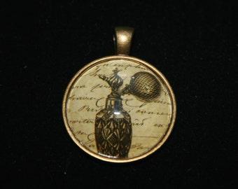 Antique Perfume Bottle Medallion