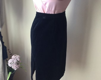Black Velvet 80s Ted Lapidus pencil skirt size 38 ***price reduced***