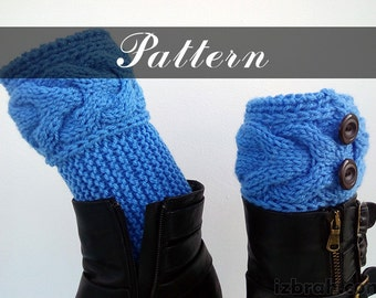 Kniting pattern Cable boot cuffs Boot toppers Instant download Knit boot cuffs Digital file Knitted boot toppers pattern Knitted boot cuffs