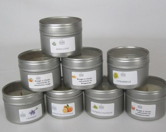 Candle handicraft natural essential oils