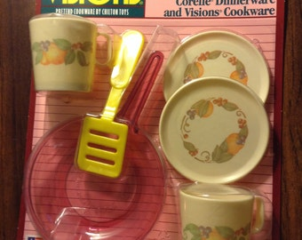 Vintage Cranberry Cookware Playset