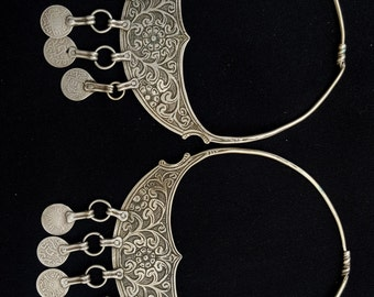 Morocco old pair of silver earrings - Essaouira