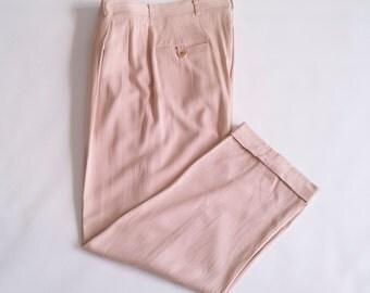 50's pink rayon gab pants
