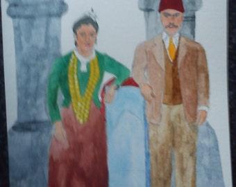 Armenak and Verchine (Ottoman Armenian Couple)