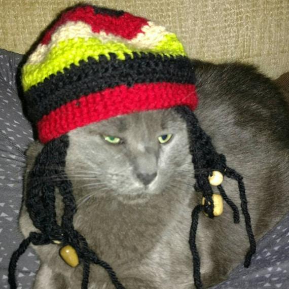 Cat or dog Hat Wigrastafarian bob marley rasta dreadlocks