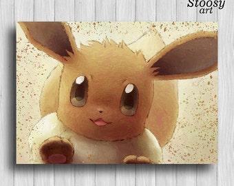 Eevee pokemon print anime manga pokemon gifts