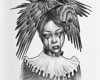 Bird Lady Screenprint
