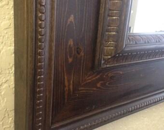 Handmade Solid Wood 49x39 inch Wall Mirror