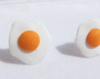 Fried eggs in fimo earrings