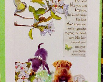 The Lord bless you and keep you ~ puppy greeting card