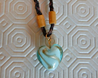heart shaped turquoise necklace - 15'' long