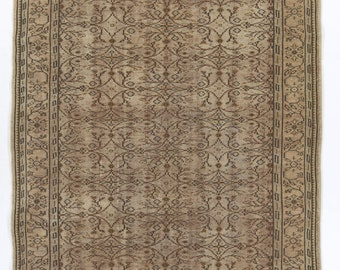 6x10 Ft  Vintage Turkish Oushak Rug. Decorative old handmade carpet. Ideal for both home and office decor   dn15