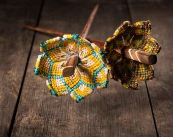Mandala flower Hair Stick