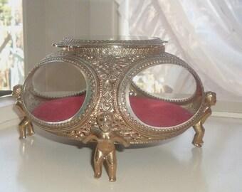 Ormolu jewelry casket
