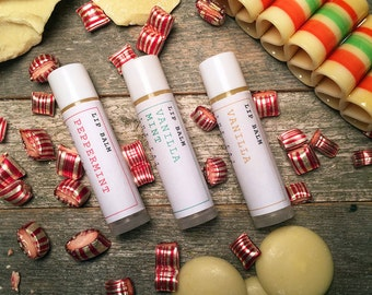 Lip Balm Trio with Cocoa Butter and Beeswax