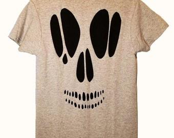 Halloween Skull Cut Out T Shirt / Pastel Goth Cutout Top