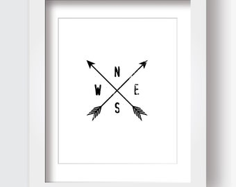 Nsew arrow wall decor