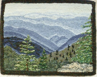 Long Range View Rug Hooking Pattern