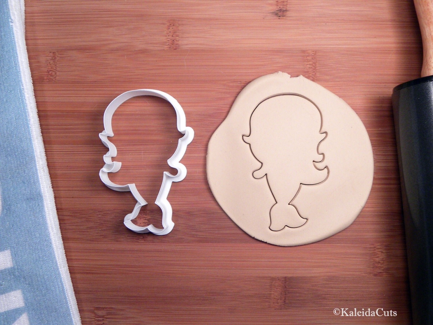 mermaid cookie cutter baby shower cookie cutter 3d printed