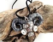 Steampunk Demon Apocalypse Pendant, Steampunk Necklace, Steampunk jewelry