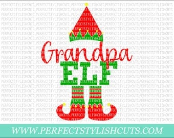 Grandpa Elf SVG, DXF, EPS, png Files for Cutting Machines Cameo or Cricut - Christmas Svg, Santa Svg, Elf Shirt, Ugly Sweater Svg