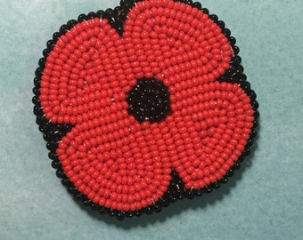 Remembrance Day Beaded Poppy