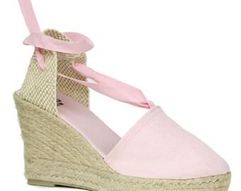 Pink Wedge Espadrilles
