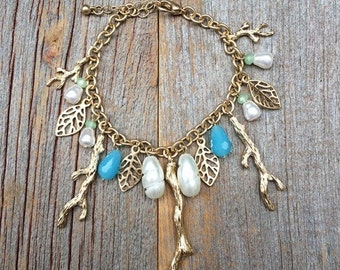 Spring Has Sprung Charm Bracelet in Turquoise